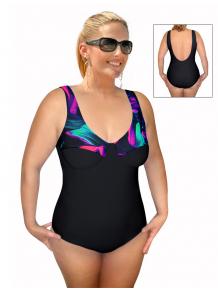 Dámské plavky jednodílné pro plnoštíhlé s kosticemi P38 v500