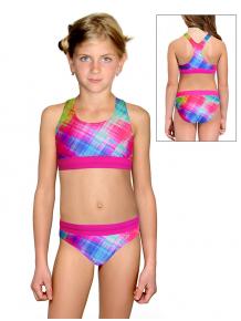 Dívčí sportovní plavky dvoudílné PD662 v340