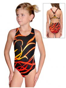 Dívčí sportovní plavky jednodílné PD623 v504