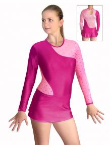 Dres na moderní gymnastiku - trikot M910x růžová