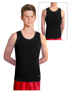 Chlapecké sportovní tílko B345chx černá elastická bavlna