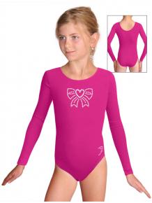 Gymnastický dres B37dg f43 růžová elastická bavlna