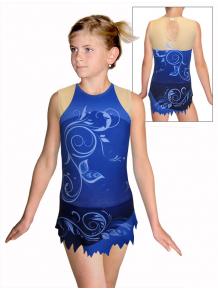 Dres na moderní gymnastiku - trikot M917 t502f modrá