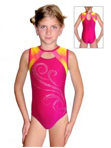 Gymnastický dres závodní D37r-6 t203 f30 růžová