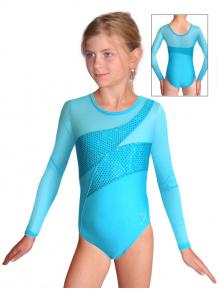 Gymnastický dres závodní D37d-2xx tyrkysová