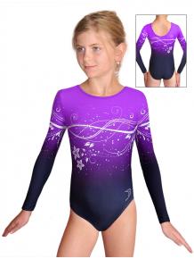 Gymnastický dres závodní D37d t113p fialová