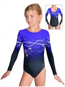 Gymnastický dres závodní D37d t113p modrá