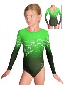 Gymnastický dres závodní D37d t113p zelená
