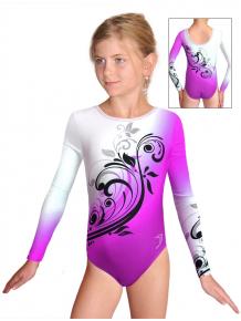 Gymnastický dres závodní D37d t114 fialová