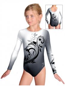 Gymnastický dres závodní D37d t114 černošedá
