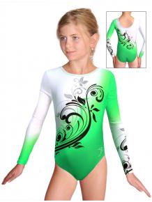 Gymnastický dres závodní D37d t114 zelená