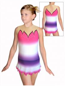 Dres na moderní gymnastiku - trikot M917 t116 růžovofialová