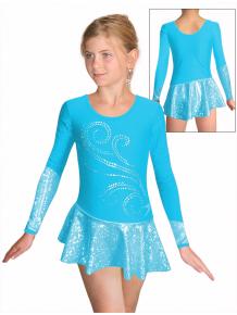 Krasobruslařské šaty - trikot K703 f30 světle tyrkysová