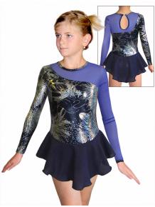 Krasobruslařské šaty - trikot K740 v498 s modrou