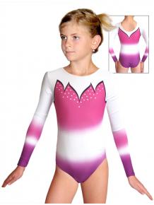 Gymnastický dres závodní D37d t116 fialovorůžová