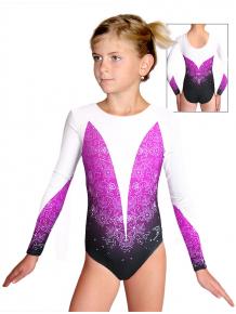 Gymnastický dres závodní D37d t118 s fialovou