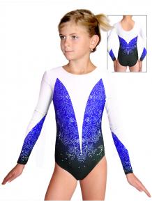 Gymnastický dres závodní D37d t118 s modrou
