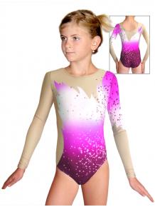 Gymnastický dres závodní D37d t119 s růžovou