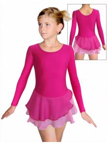 Krasobruslařské šaty - trikot K729 39x růžová