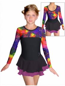 Krasobruslařské šaty - trikot K730 v496 s černou