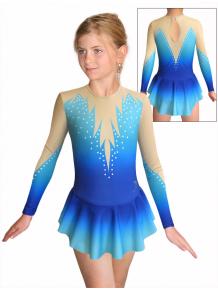 Krasobruslařské šaty - trikot K739 t115 modrotyrkysová