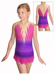 Dres na moderní gymnastiku - trikot M917 t115 fialovorůžová