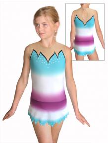 Dres na moderní gymnastiku - trikot M917 t116 fialovotyrkysová