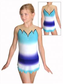 Dres na moderní gymnastiku - trikot M917 t116 modrotyrkysová