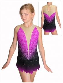 Dres na moderní gymnastiku - trikot M917 t118 s fialovou