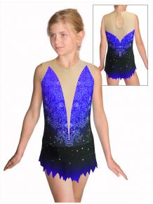 Dres na moderní gymnastiku - trikot M917 t118 s modrou