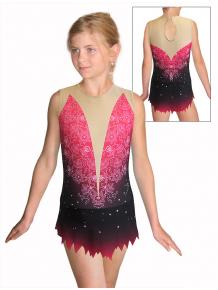 Dres na moderní gymnastiku - trikot M917 t118 s růžovou