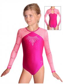 Gymnastický dres závodní D37d-5 F34 růžová