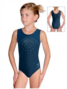 Gymnastický dres D37rg f29 petrolejový samet