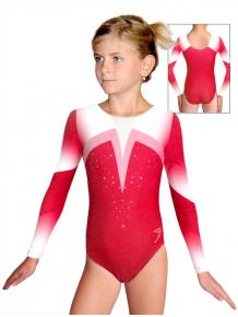 Gymnastický dres závodní D37d t120 červená