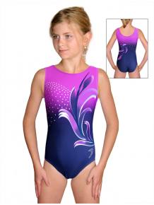 Gymnastický dres závodní D37r t110 modrofialová