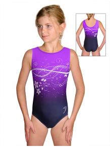 Gymnastický dres závodní D37r t113p fialová