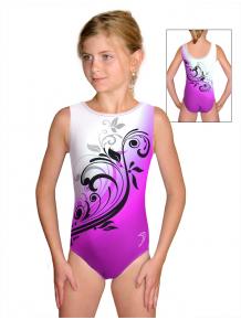 Gymnastický dres závodní D37r t114 fialová