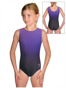 Gymnastický dres závodní D37r t122 černofialová ombré