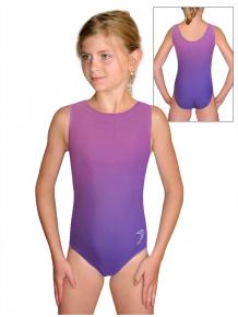 Gymnastický dres závodní D37r t122 fialová ombré