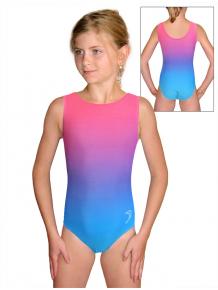 Gymnastický dres závodní D37r t122 tyrkysovorůžová ombré