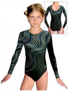Gymnastický dres  D37d t126 s tyrkysovou
