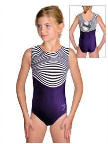 Gymnastický dres  D37r t125 s fialovou