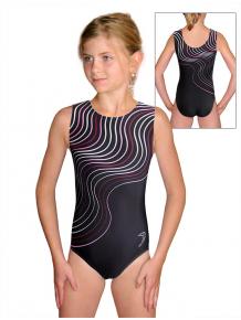 Gymnastický dres D37r t126 s růžovou