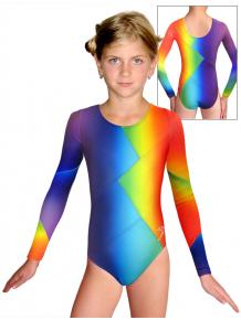 Gymnastický dres závodní D37d-52 t123 duhová