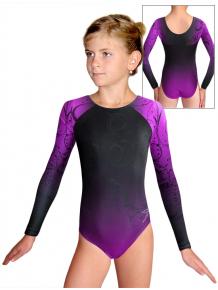 Gymnastický dres závodní D37d t131 černofialová