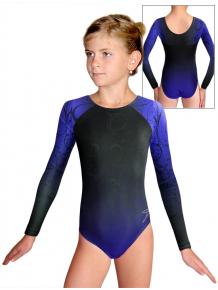 Gymnastický dres závodní D37d t131 černomodrá