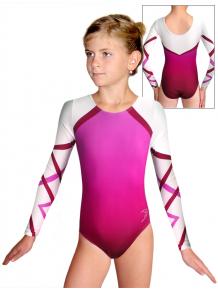 Gymnastický dres závodní D37d t132 s růžovou
