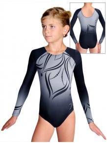 Gymnastický dres závodní D37d t133 černošedá