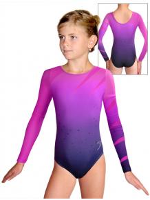 Gymnastický dres závodní D37d t134 fialovorůžová