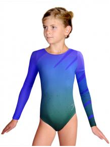 Gymnastický dres závodní D37d t134 modrozelená
